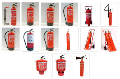 Extintores portátiles pci
